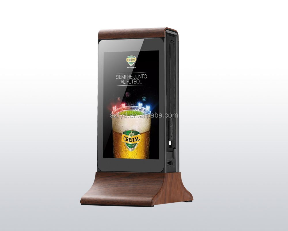 New Wifi 20800mah table digital advertising player with daul touch <strong>screen</strong>