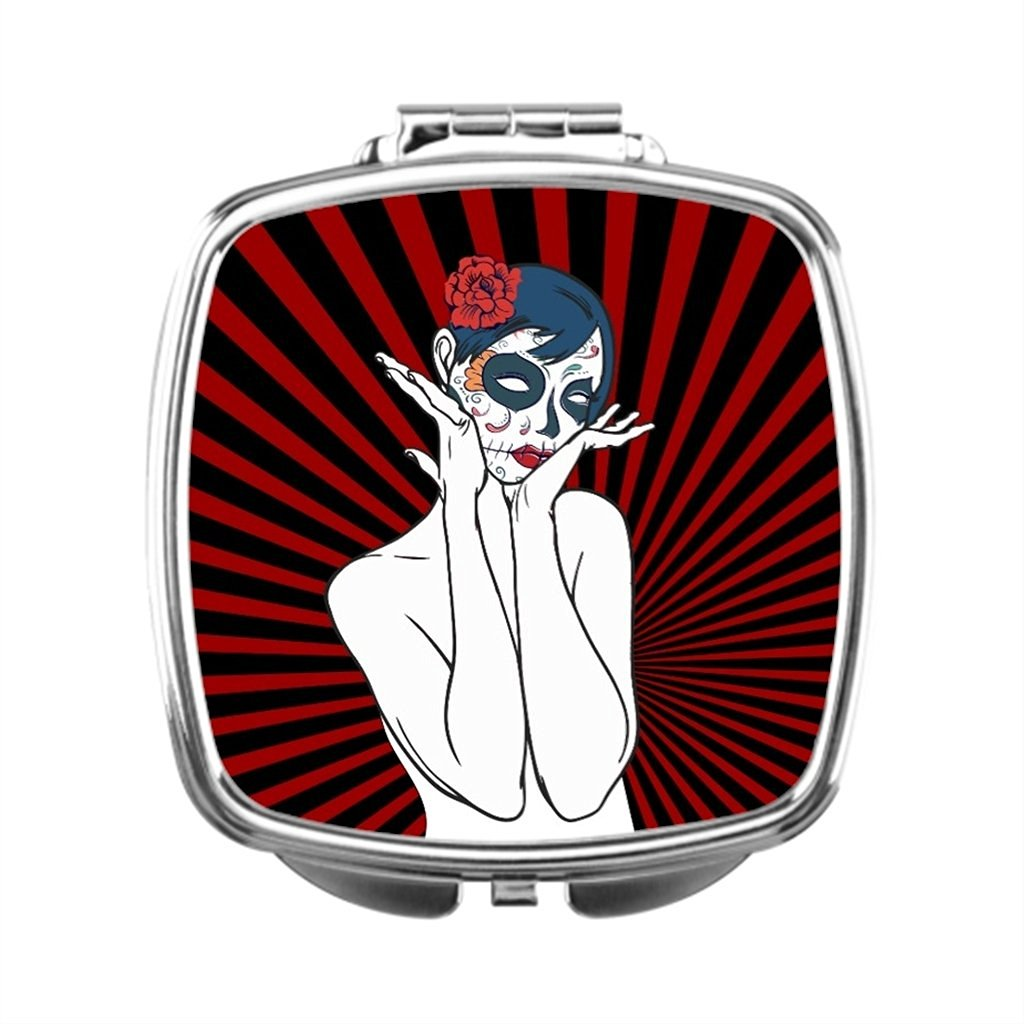 black T Dressing Mirror Gothic Compact Makeup Mirror Gbcdesign Compact Mirror Gift Fantasy