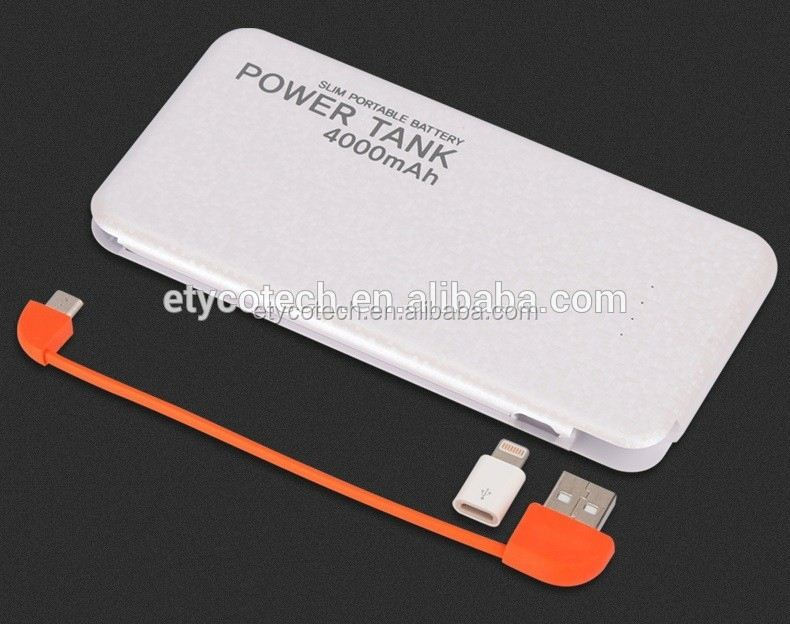 superising gift to friends and family 4000mah power bank with USB