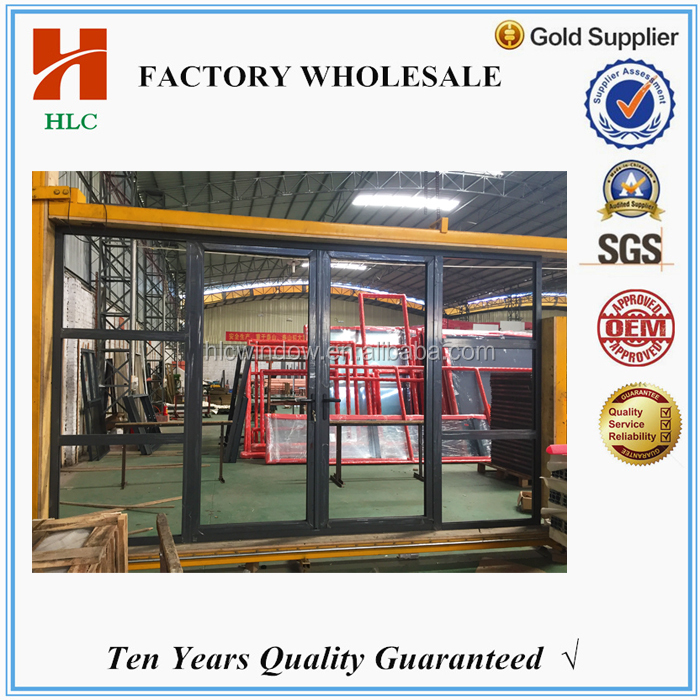 House used aluminium tempered glass swing open door order from china manufacturer
