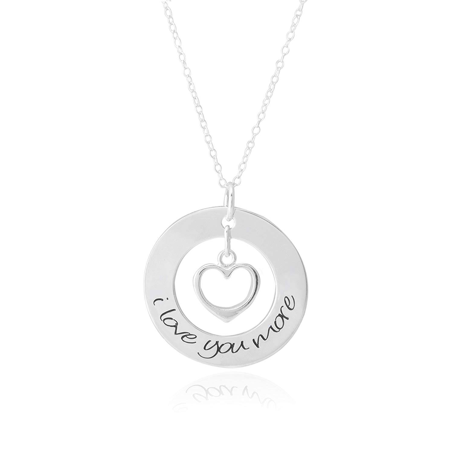 I Love You More Necklace//Sterling Silver Necklace//Gift for her//Anniversary Necklace for Anniversary Gift