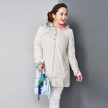 Astrid 2015 Women's Coat High Quality Spring Autumn Trench Coat Slim Hooded  Chain Big Size Fashion AY-1670