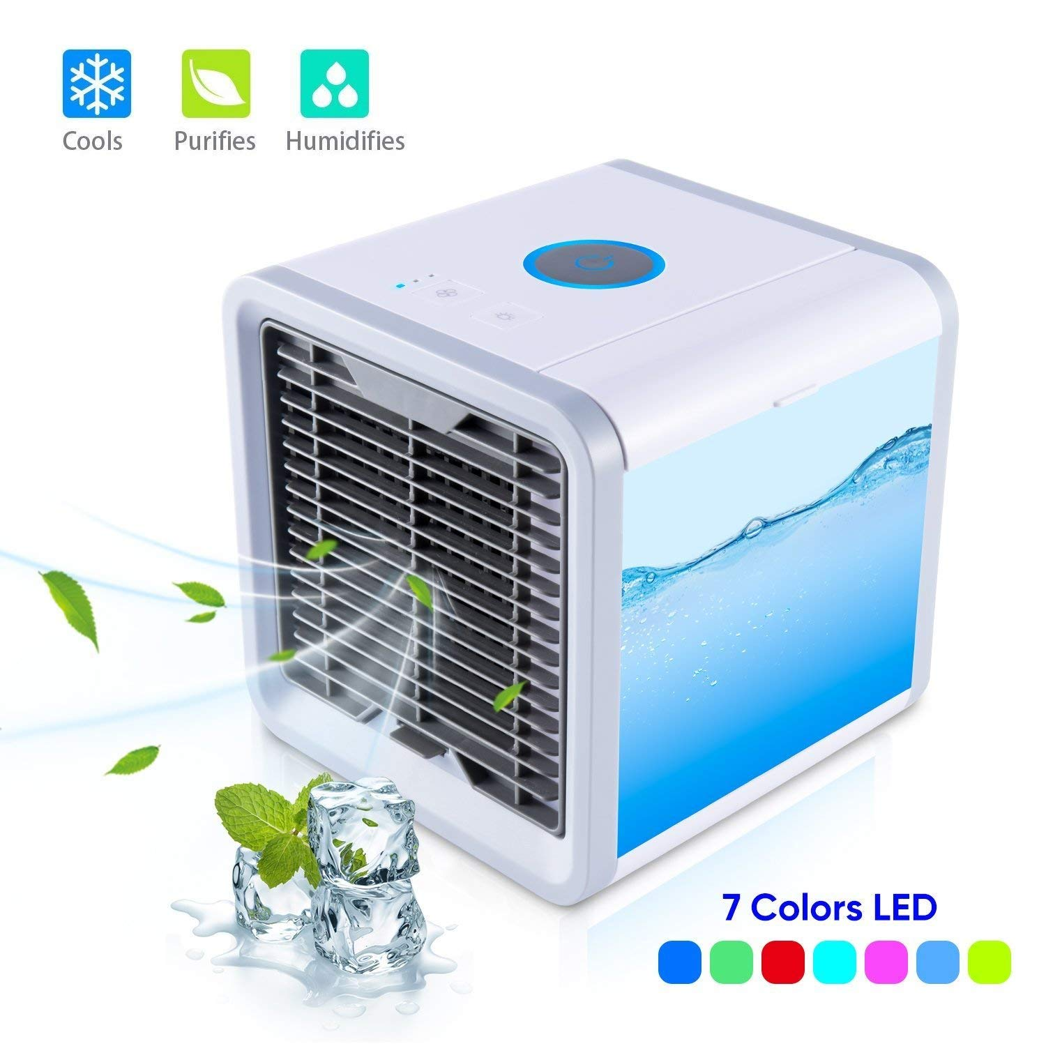 Lionsoul Personal Air Conditioner, Air Personal Space Cooler with Humidifier and Air Purifier USB Mini Portable Air Conditioner