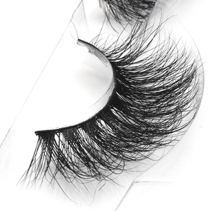 Mink eyelashes vendor 3D mink eyelashes with custom eyelash packaging glitter