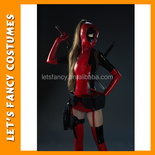 Pgwc2666 Sexy Girl Costume Deadpool Costume Playboy Girls Sexy ...