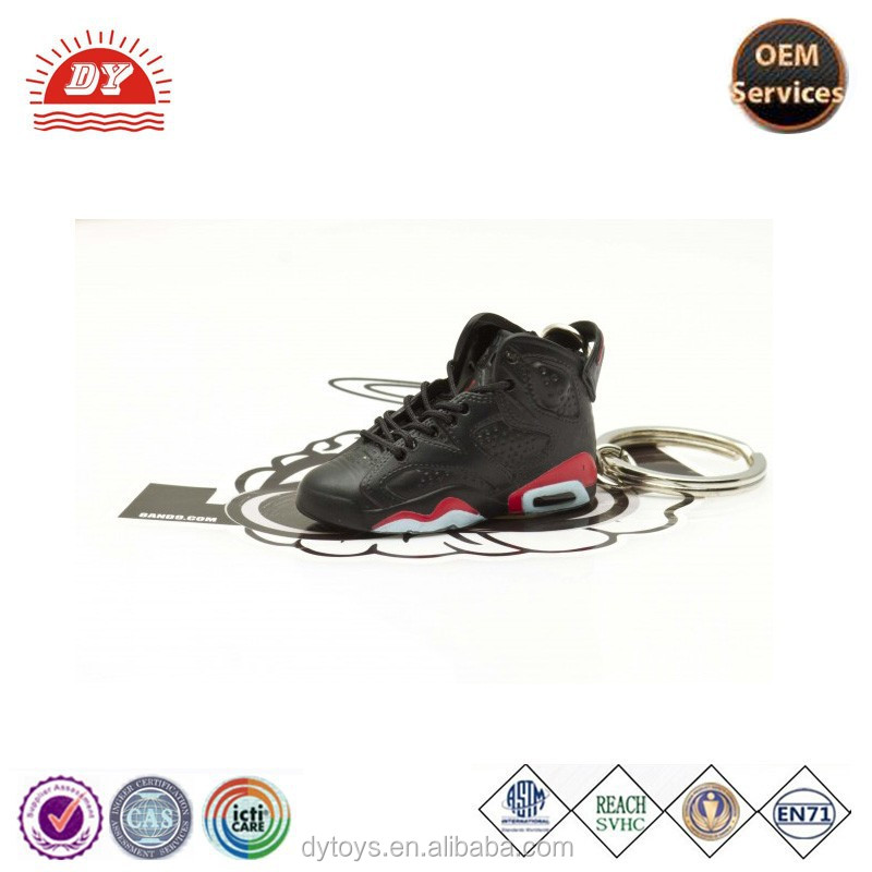 Custom made 3D sneaker keychains