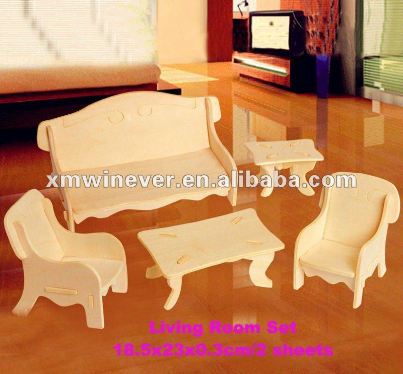 3d Muebles De Madera Rompecabezas,Juego De Sala - Buy Product on ...