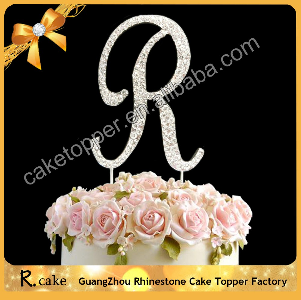 Queen Cake Decoration Letters : Fashion Wedding Cake Decorating Supplies Name Initials ...