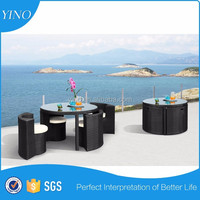Round Table 5 Pc. Outdoor Dining Table Set Aluminum Table Tops SO0099