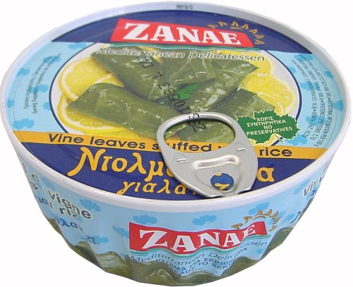Zanae Stuffed Grape Leaves with Rice - Yalantzi Dolmadakia - 10 oz can