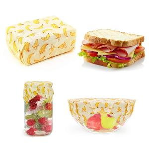 2018 hot sales Eco Friendly Reusable Sandwich and Food Beeswax Wrap Set