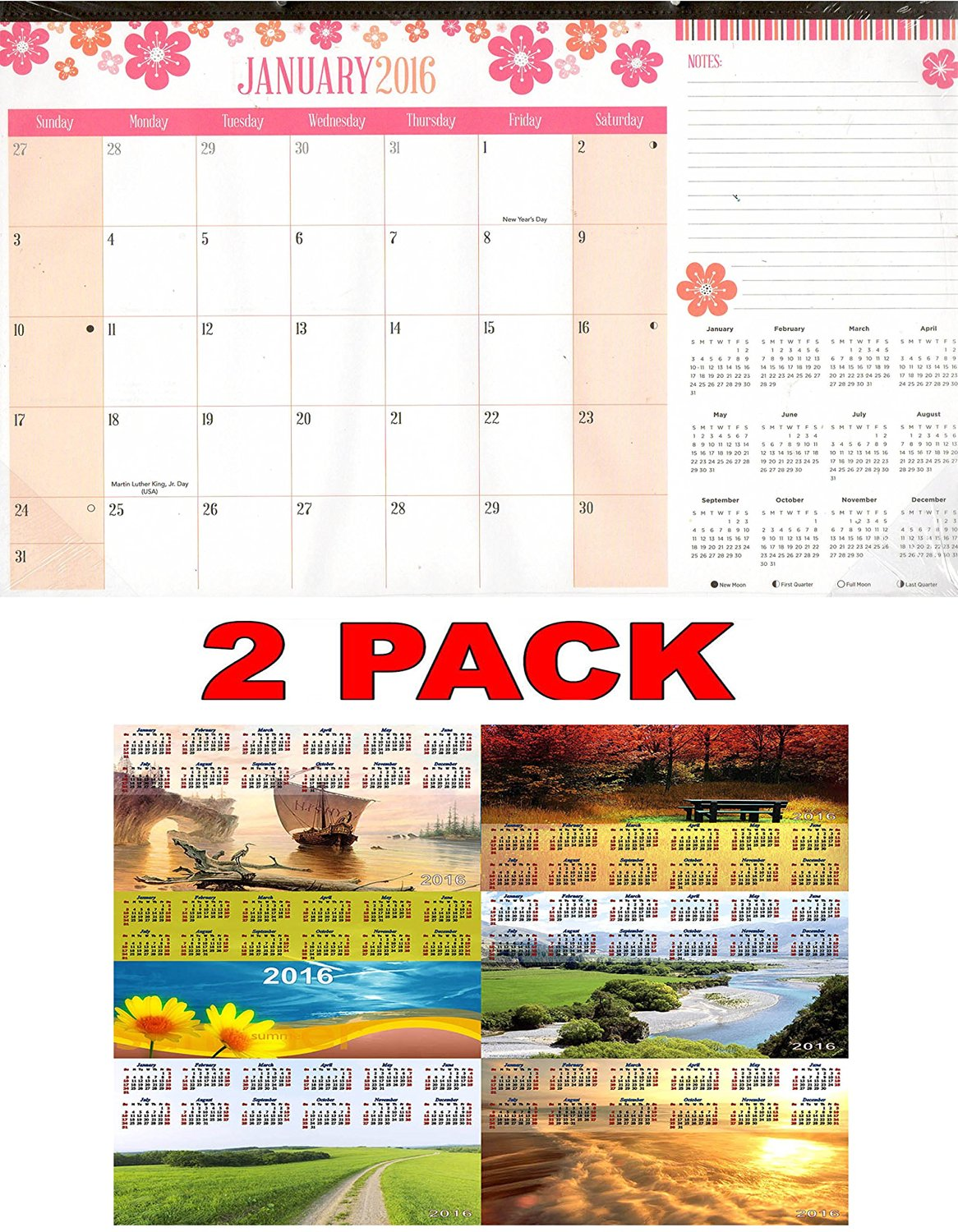 buy 2016 12 month desk pad wall calendar desk blotter 11 x 17