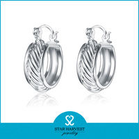 Wholesale Fantasy Hoop Earring Setting Without Stone For Men