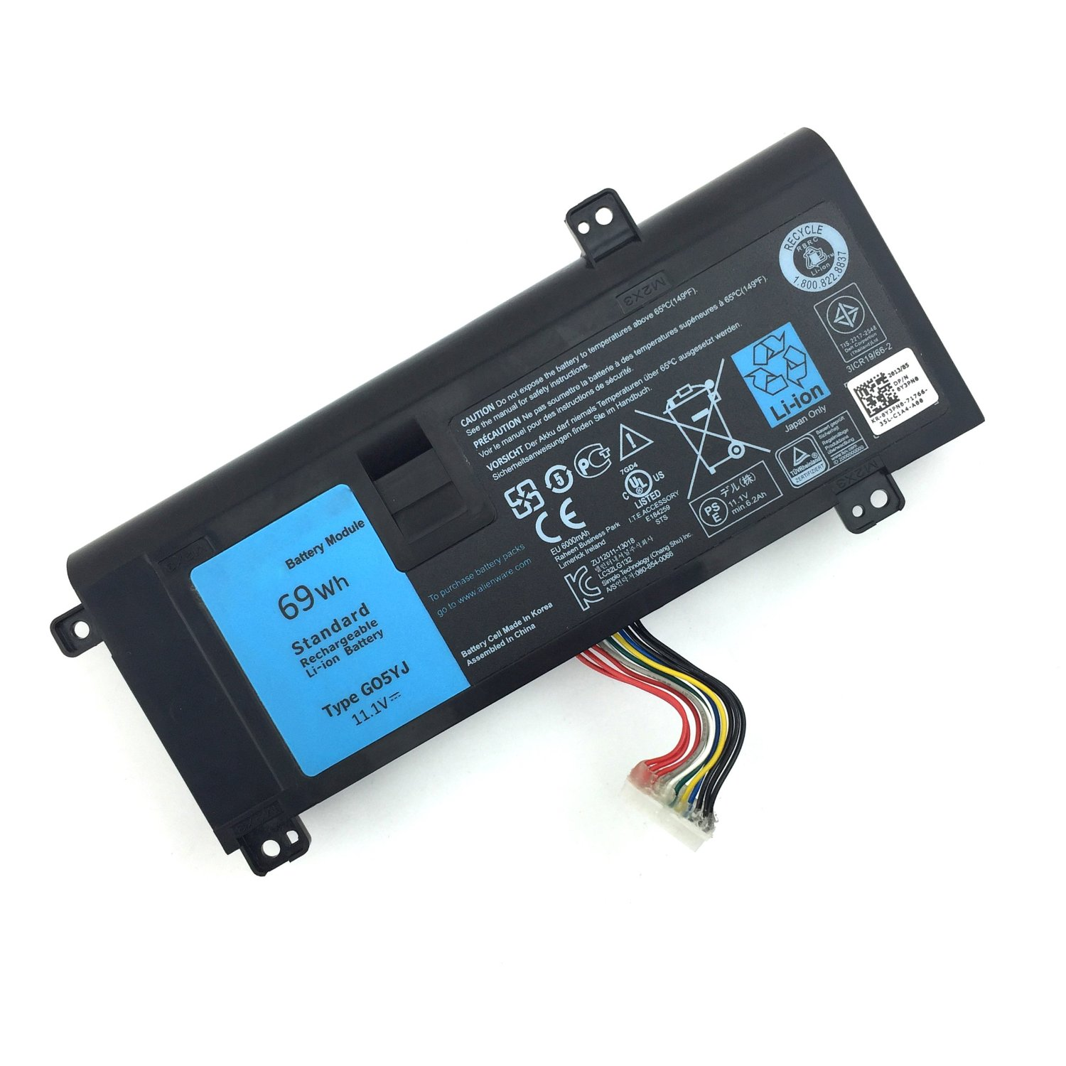 DJW 69Wh 11.1V G05YJ Laptop Battery for Dell Alienware 14 A14 M14X R3 R4 Series Notebook:Alienware 14D-1528 14D 1528 ALW14D G05YJ 0G05YJ Y3PN0 8X70T[12 Months Warranty]