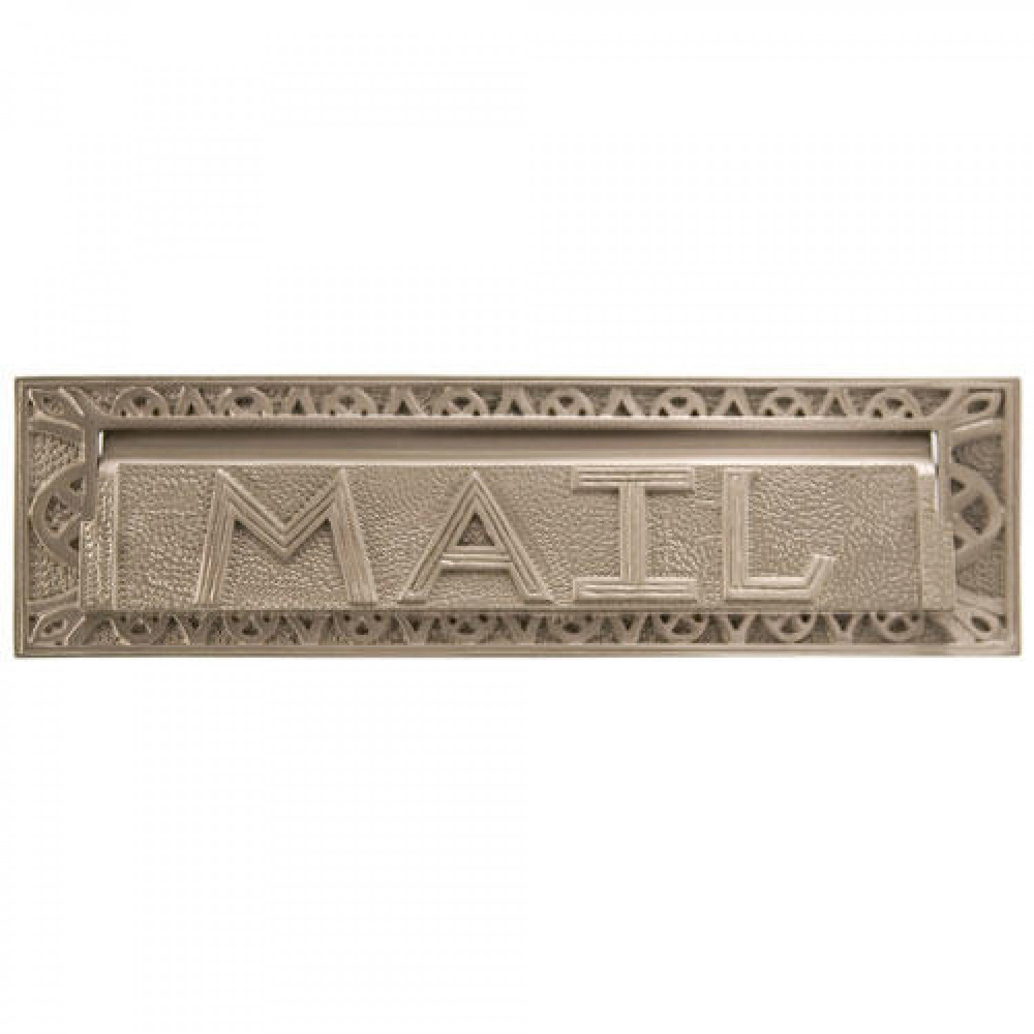 "Naiture 13"" Classic Heavy Duty ""mail"" Letter Slot in Brushed Nickel Finish"