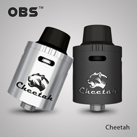 Best Selling Items Electronic Cigarette Vapor Wholesale OBS Airflow Control Cheetah RDA Atomizer Newest Tank