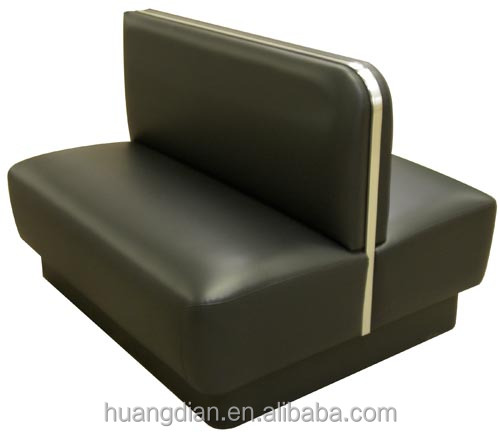 cheap black PU leather coffee shop club restaurant booth