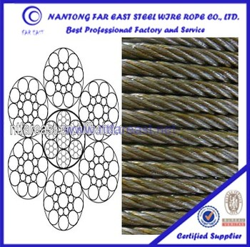 6*19s+iwrc Steel Towing Wire Rope,Lifting Steel Cable Capacity - Buy ...