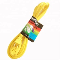 New cord SGS certification power cord yellow extension Cords for south America/Peru Market