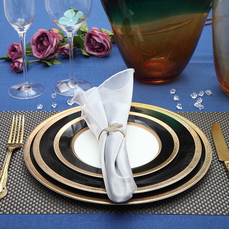 new design beautiful ceramic dinnerware set dish bone china dinner plate oval plate