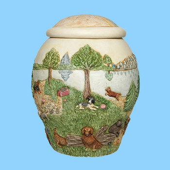 High Quality Rainbow Bridge Dog Urn