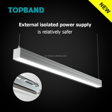 Top led manufacture 5000k led linear light for parking lot 2015 NEW ul/dlc led linear 40w 4ft ac100-277v dimmable