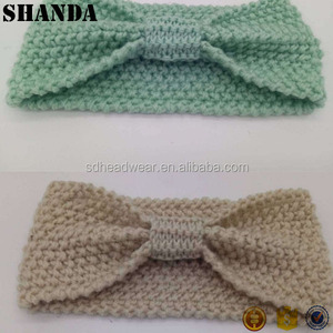 Hair Accessories Lady's Lovely Winter Warmer Crochet Bow Knitted Headband