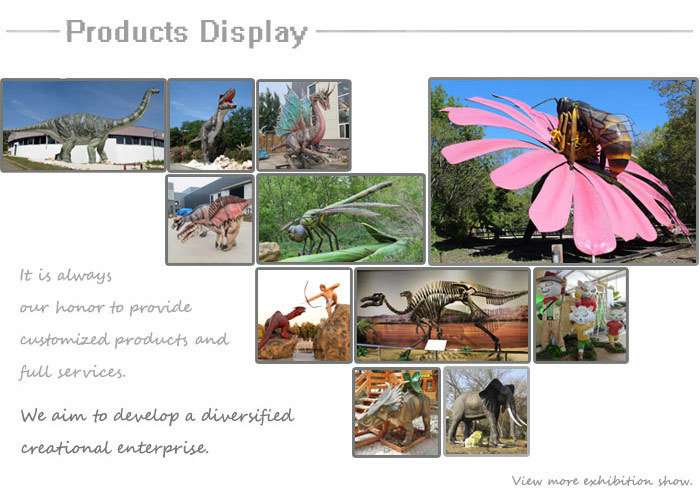 Amusement park mechanical animatronic insects animatronic model