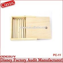 Disney Universal NBCU FAMA BSCI GSV Carrefour Factory Audit Manufacturer Cheap Custom Wooden Meterial Pencil Case