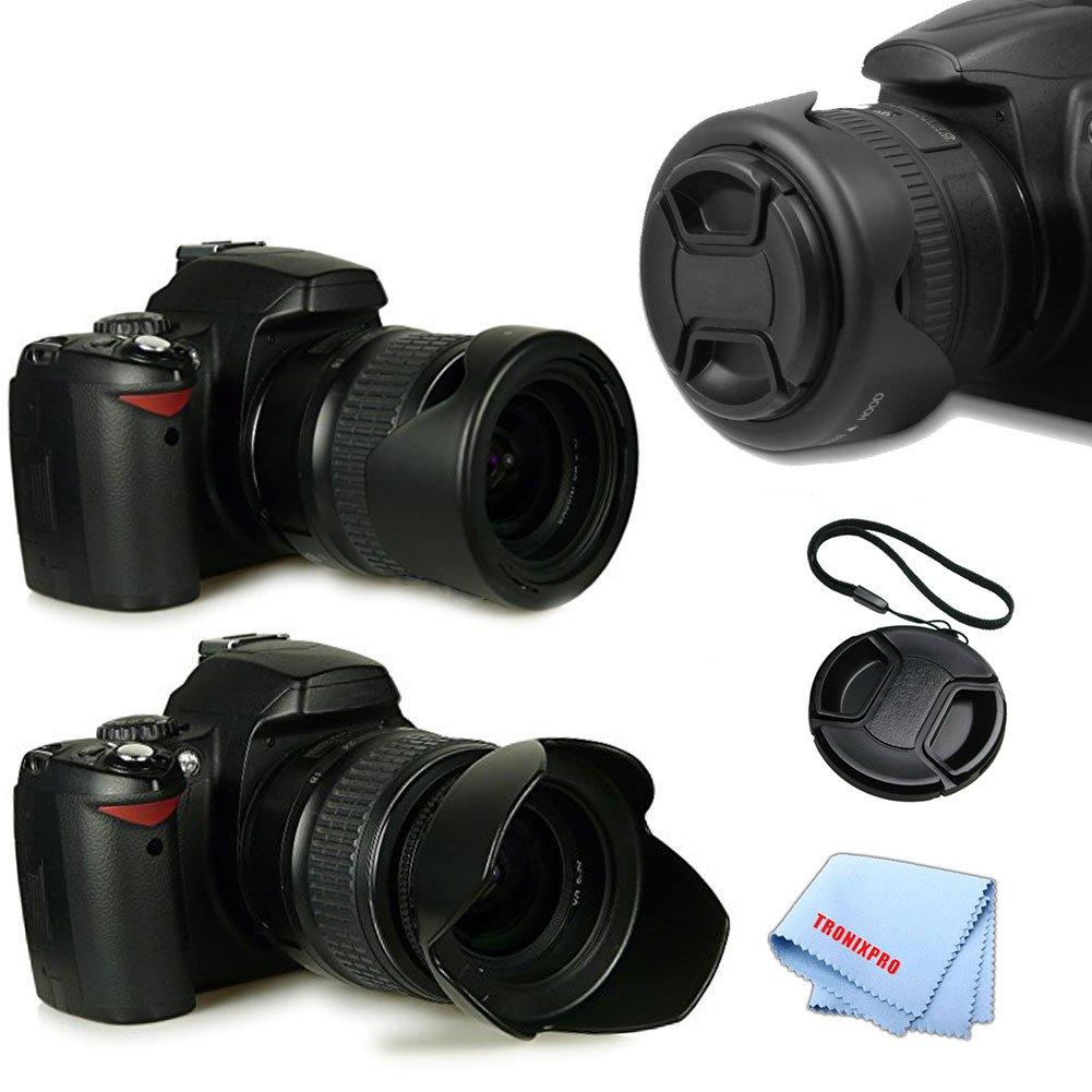 + Lens Cap Lens Cap Center Pinch for Canon EOS Rebel T6i 58mm Microfiber Cloth