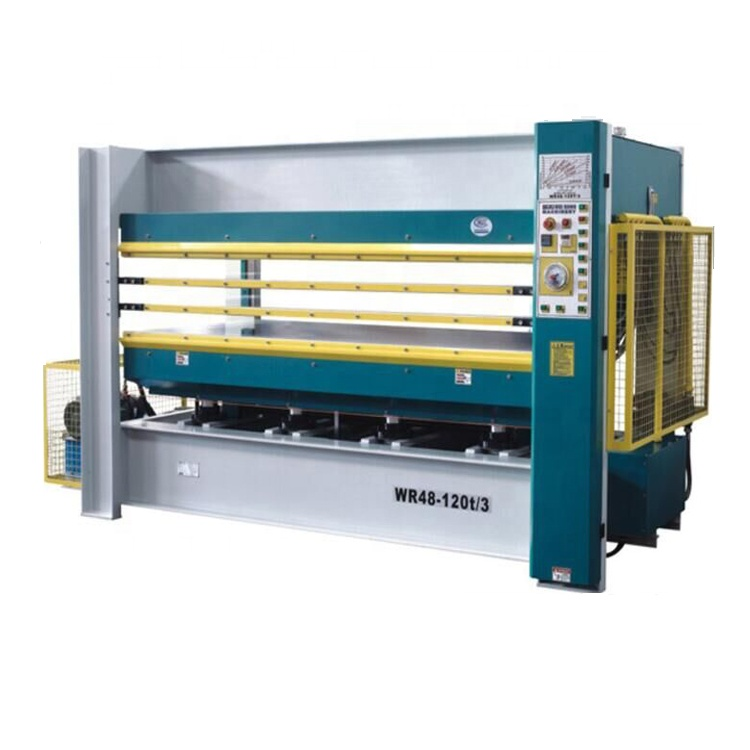 Hot selling elektrische melamine laminaat hot persmachine voor multiplex