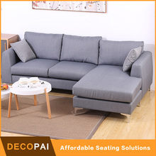 upholstery soft fabric living room furniture modern wood leg 2 seat chaise longue love sofa three person seat sofa