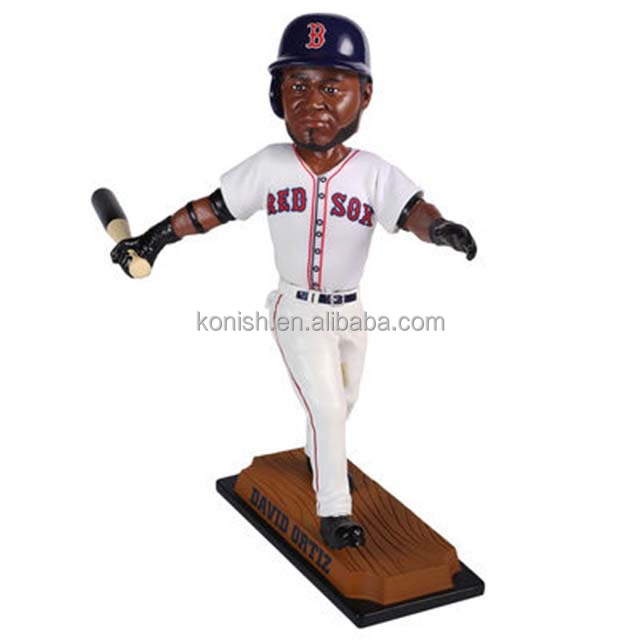Giocatore di baseball personalizzato David Ortiz Resin Sports Bobble Head for Sale