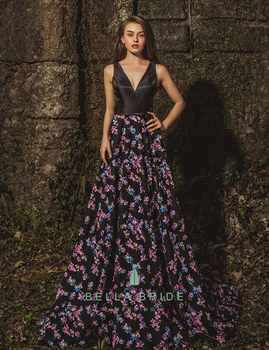 Latest Long Frocks A Line Embroidery Evening Dress Wedding Party Dresses For Girls Of 18
