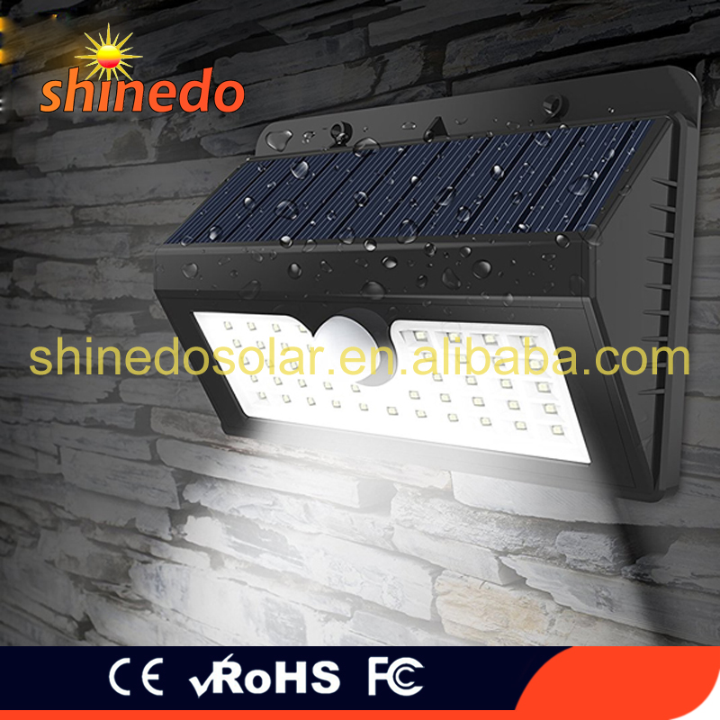 Shinedo 2017 New Product 45 LED Solar Powered Motion Sensor Lights Outdoor Garden Lightings Wall Security Lamp