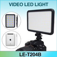 Mcopus New Ultra Thin LED Video Light TTV-204 Double Color Temperature for Canon Nikon DSLR Camera