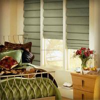 fancy custom decorative window sun shade roman blind fabric