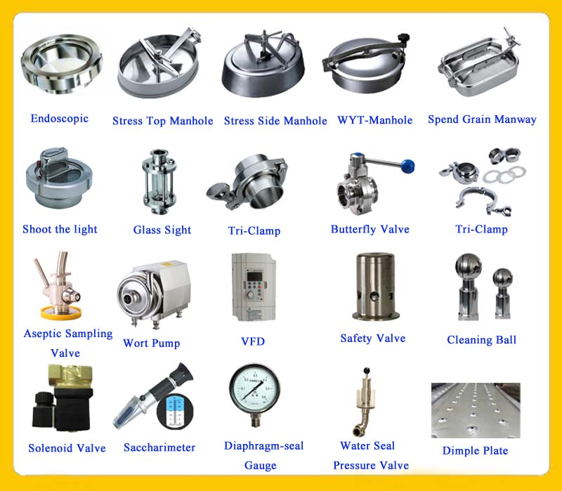Brewery equipment spare parts