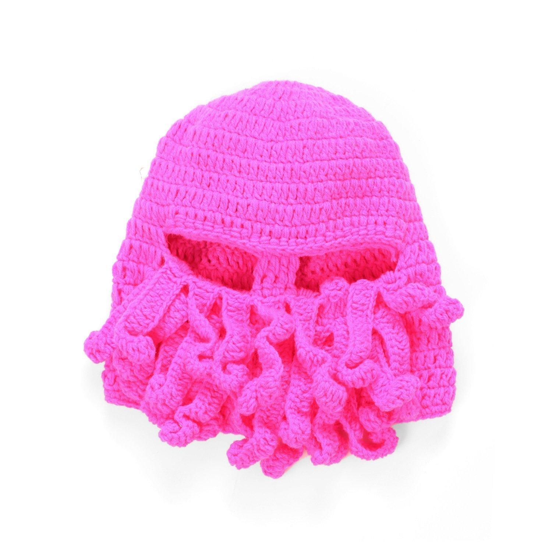 Natuworld Fashion Tentacle Octopus Cthulhu Shape Knit Beanie Hat Winter  Windproof Ski Warm Mask Hat Cap fb9dae247e8