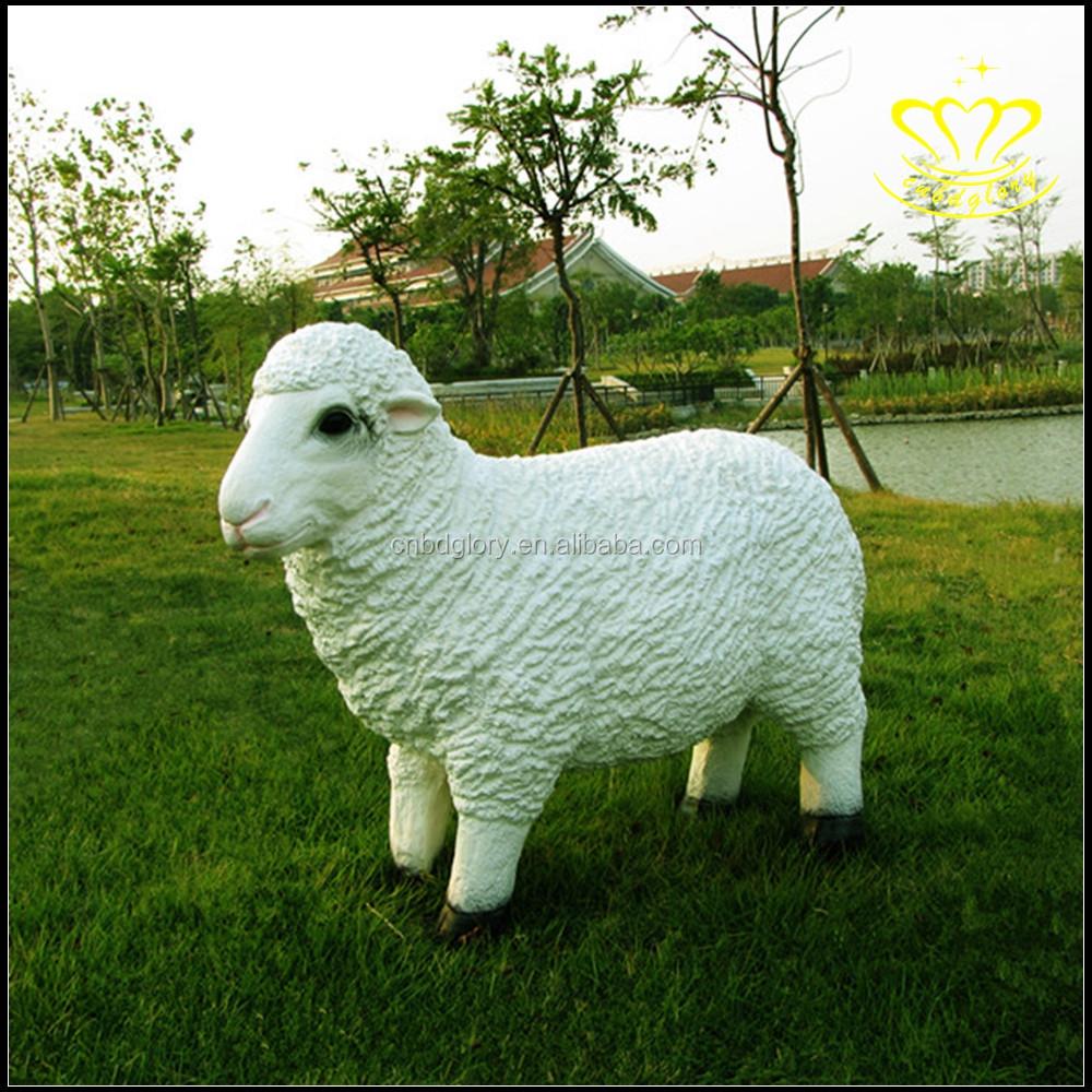 Customized Garden Decor Life Like Polyresin White Sheep Statue For ...