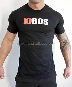 Bodybuilding men's short sleeve workout fitness gym t-shirt