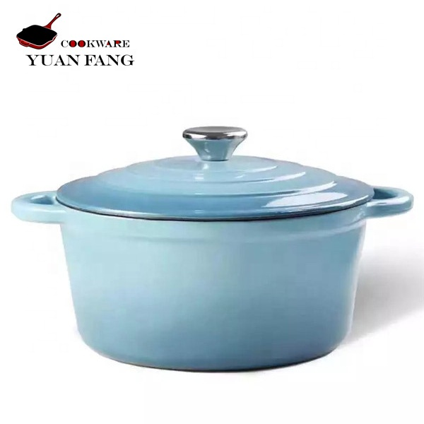 2019 best selling cookware cast iron double ear casserole enamel coated cooking pot