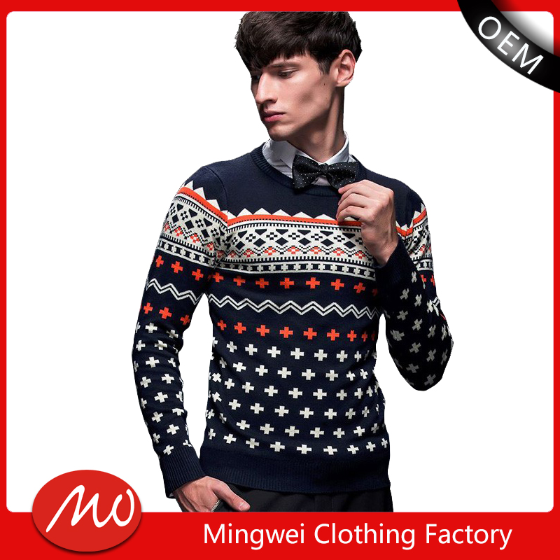 chinese clothing manufacturers wholesale christmas popular design sweater for men