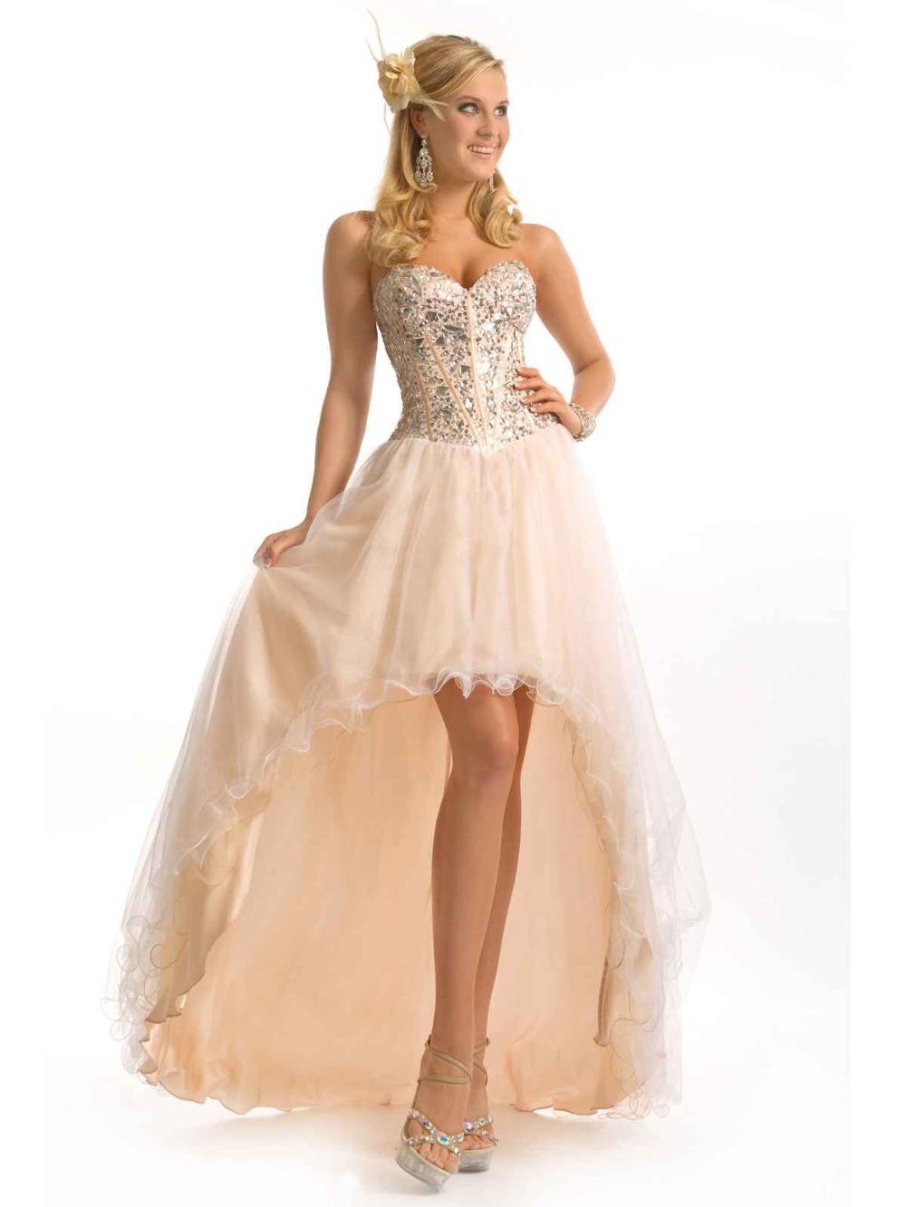 d6ce24800133f Cheap Silver High Low Prom Dress, find Silver High Low Prom Dress ...