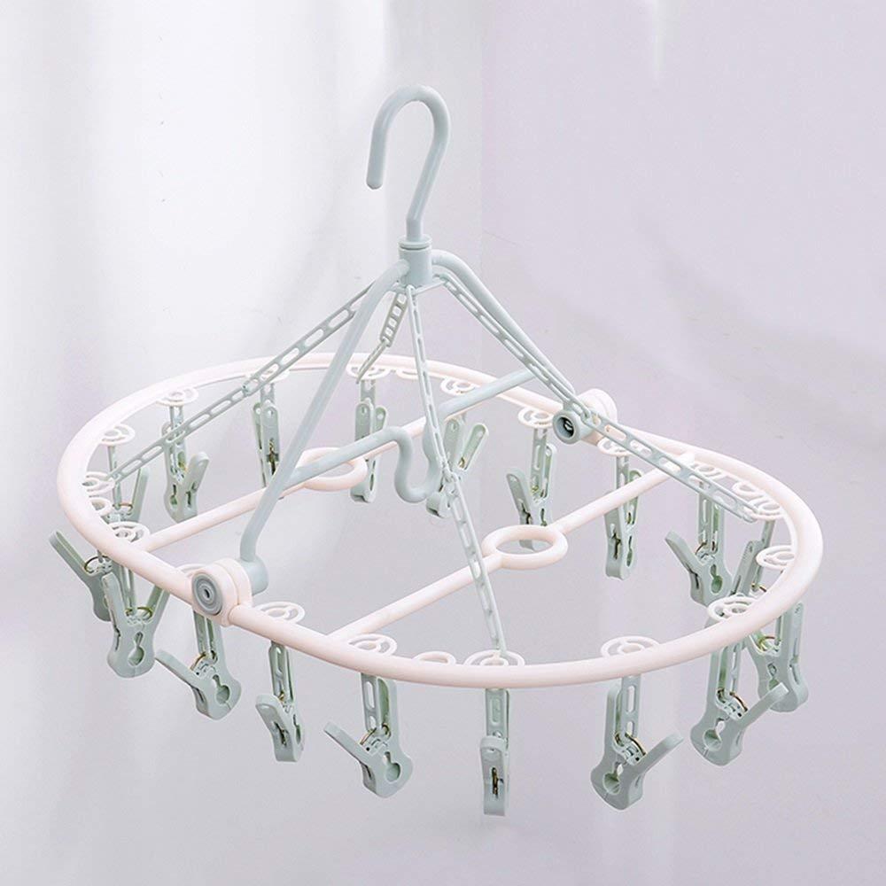 Plastic hanger/multi-function drying rack/balcony towel rack, diaper racks, socks rack (Color : Blue)