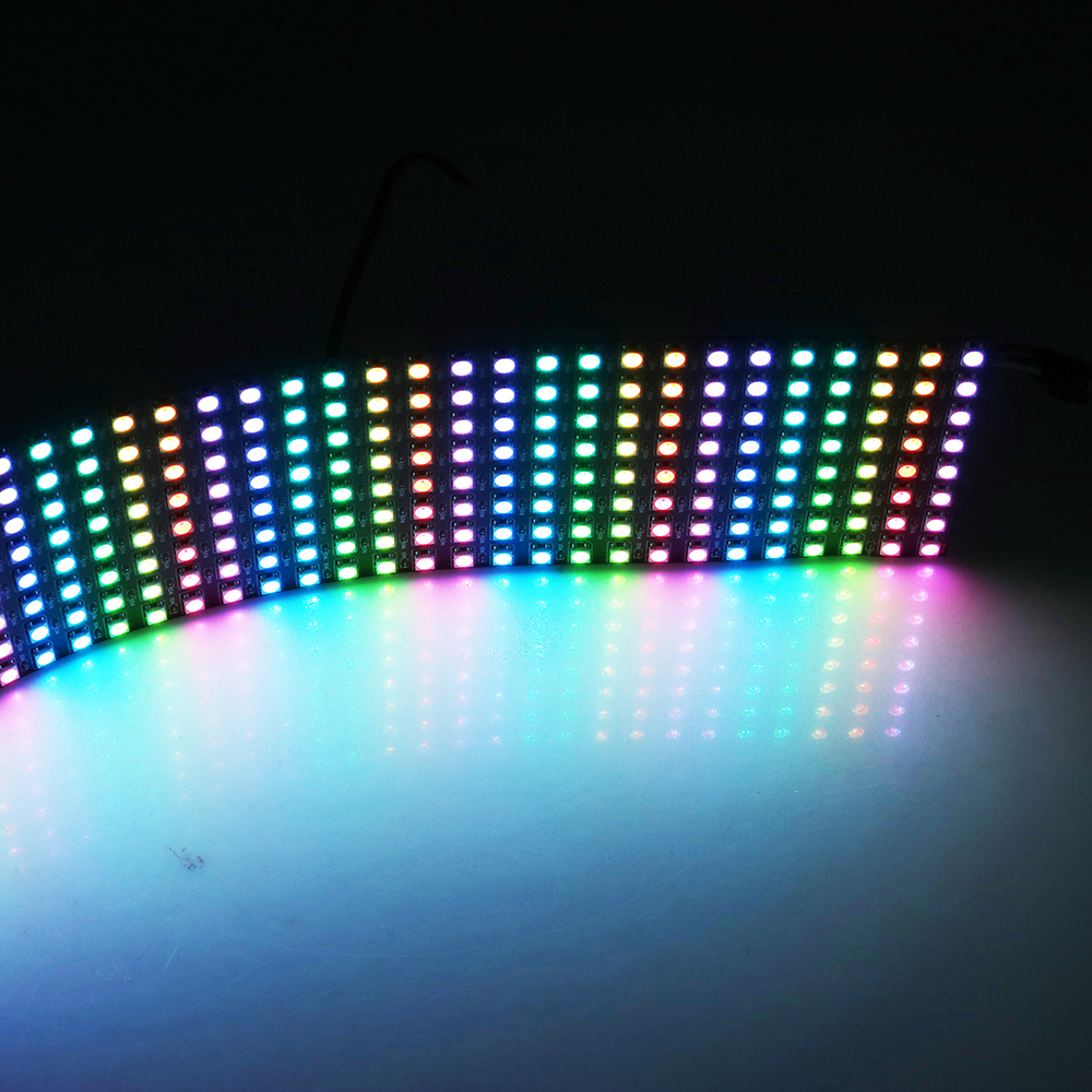 factory price 8*32 Pixels Matrix WS2812 LED Digital Flexible Panel <strong>screen</strong> 5050 RGB SMD