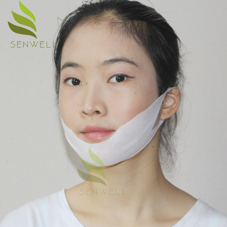 Private Label Collagen Slimming Facial Sheet V Shape Mask