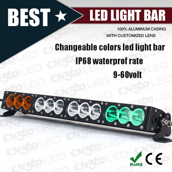 Changeable Color Cree 12 Volt Led Light Bar For Truck