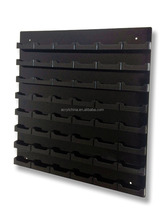 48 Pocket Black w/ Black Acrylic Business Card Holder Wall Mount