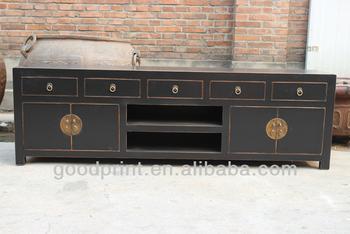 Tv Kast Antiek : Chinese antieke zwarte tv kast meubel buy tv meubel teak